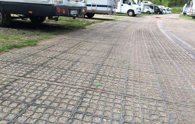 Дороги и проезды из газонных решеток 2