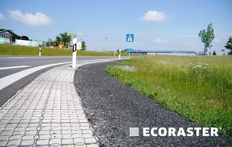 Дороги и проезды из газонных решеток 6