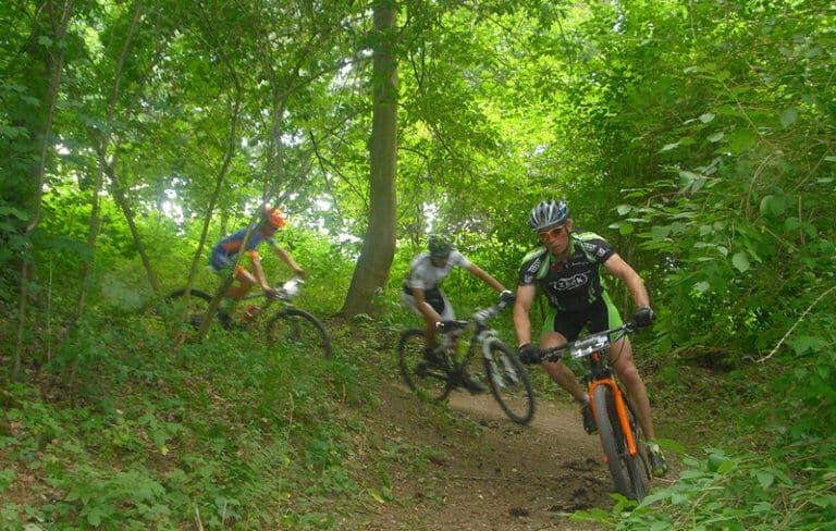 дорожка для велосипедов из ECORASTER без грязи