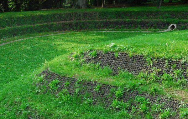 геопластика с газонной решеткой