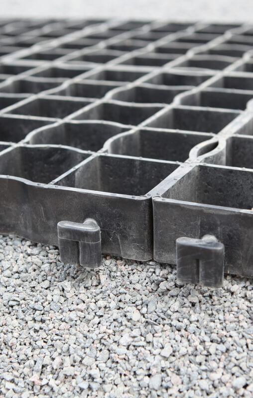 пример основания для газонных решеток со щебнем