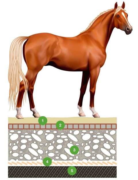 среднее основание под газонную решетку для лошадей