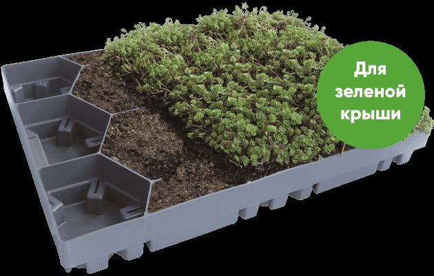 Модуль ECOSEDUM PACK для зеленой крыши